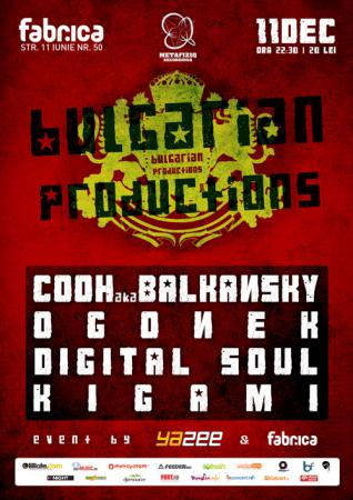 BULGARIAN PRODUCTIONS NIGHT :: METAFIZIQ & BALKANSKY @ club FABRICA - BUCURESTI