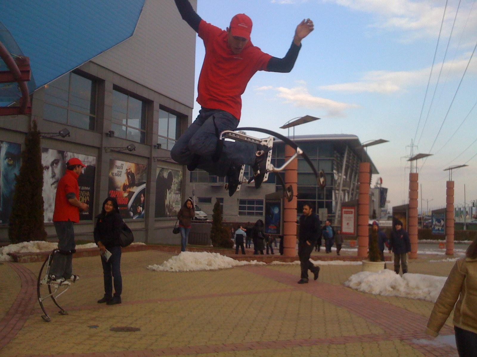 Air Jumper - ново екстремно забавление в градска среда